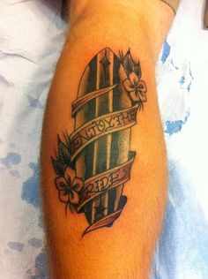 Surf tattoo