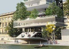 """Concorso Internazionale per la progettazione di un nuovo Champagne Bar a Parigi, lungo la Senna e vicino al """"Pont des Arts"""". www.salvatorespataro.com"""