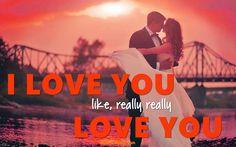 I love you like quote - I love you like, really really love you.