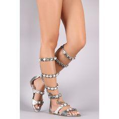 Bullet Gladiator Sandal | UrbanOG (30 AUD) ❤ liked on Polyvore featuring shoes, sandals, zip back gladiator sandals, monk-strap shoes, strappy shoes, roman sandals and strappy gladiator sandals