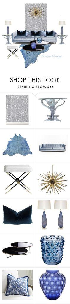 """Azul"" by lorena-gallego on Polyvore featuring interior, interiors, interior design, hogar, home decor, interior decorating, ferm LIVING, Jonathan Adler, Dot & Bo y Modloft"