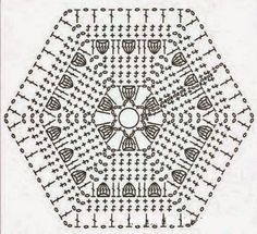Ivelise Feito à Mão: Hexágono De Crochê