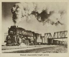 """""""Wabash dependable freight service."""" (1950)"""