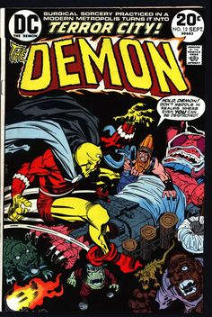 The DEMON #12 1972 Jack Kirby DC Comics Etrigan Camelot Merlin Fourth World Supernatural Cult Monster Anti-SuperHero