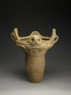 "Japan, earthenware jar Jomon period 10,000 to 300 BC / 22""x17""x14.75"""