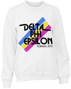 cd498dc4d Adam Block Design » Delta Phi Epsilon Stripe Sweatshirt Greek Week, Go  Greek, Sorority