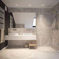 Bathroom Inspo, Bathroom Inspiration, Bathroom Tiling, Bathrooms, Dream Home Design, House Design, Shower Fixtures, Master Bath, Fossil