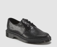 1461 shoe (black reptile pattern emboss) suede leather dr. martens mens