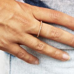 Twisted Gold Ring - Sirenlondon