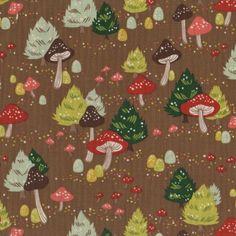 Alexander Henry Fabrics North Pole Mushrooms