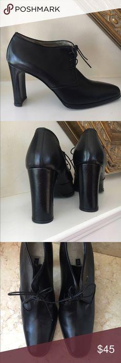 Vintage Ellen Tracy shoes Never worn vintage black leather shoes excellent condition size 8 1/2 Ellen Tracy Shoes Ankle Boots & Booties