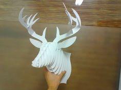 Cardboard deer head!