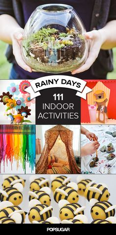 111 Kid-Friendly Indoor Activities For Rainy, Snowy, Cold Days - babysitting lifesaver, definitely Indoor Activities, Craft Activities For Kids, Summer Activities, Toddler Activities, Projects For Kids, Activities For Rainy Days, Crafts For Rainy Days, Nanny Activities, Freetime Activities