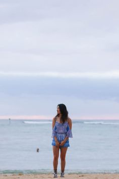 STYLE SMORGASBORD // Auria Earrings with Forever New playsuit Pom Pom lace up sandals DIY fashion style stylish stylist blog blogger blogging hawaii sunset waikiki beach the hilton resort