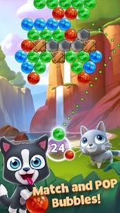 Pop bubbles, complete missions, explore and help rebuild the island homes for your pets to enjoy!