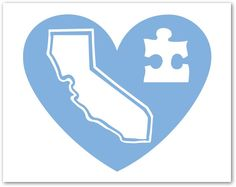 """The """"Heart For Autism"""" California Heart Decal - pinned by pin4etsy.com"""