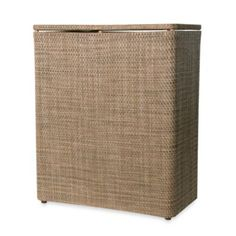Lamont Home™ Roxie Upright Hamper in Brown/Multi - BedBathandBeyond.com