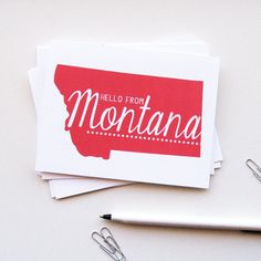 Hello From Montana!  New to our shop from our friends at KTF Designs in Butte. Pick up a pack of six!