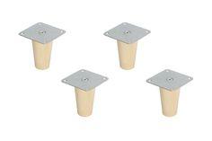 Alle Features im Überblick: Möbelfüße für Kallax Regal 100% Ikea-Möbel kompatibel Material: Buchenholz, Klarlack, verzinkter Stahl 5 verschiedene Möbelfuß-Typen 2 verschiedene Möbelfuß-Höhen (10 cm und 16 cm) 4er- und...