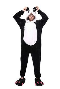 Panda Animal Pajamas for Women Men Adult Onesie Unisex Sleepwear Halloween Cosplay Costume S Black * You can get additional details at the photo web link. (This is an affiliate link). Animal Halloween Costumes, Anime Costumes, Halloween Cosplay, Adult Costumes, Costumes For Women, Cosplay Costumes, Adult Onesie Pajamas, Animal Pajamas, Ideas