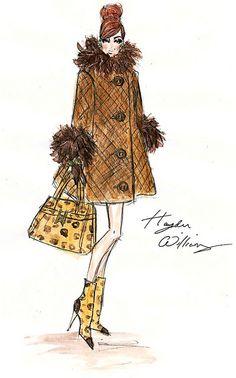 Hayden Williams Fashion Illustrations: Hayden Williams For Barbie BFMC F/W Hayden Williams, Illustration Mode, Fashion Illustration Sketches, Fashion Sketches, Art Illustrations, Fashion Prints, Fashion Art, Vintage Fashion, Fashion Design