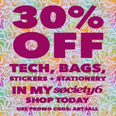 #FRIDAY #SALE #society6 30% off Tech, Bags and Stickers + Stationery with Code ART4ALL https://society6.com/cannymitts/s?q=new+tech