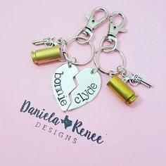 Bonnie & Clyde • His/Her key chain • Bullet Key chain • Bonnie and Clyde Key chains • Ride or Die • Gift for boyfriend • Gift for girlfriend