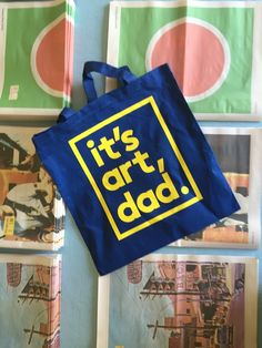 The It's Art, Dad daily cotton tote is made out of 100% cotton the IAD  logo…