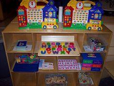 Alphabet Center in a preschool classroom.