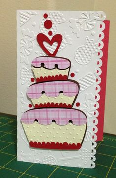 Birthday Cake card using Silhouette Cameo