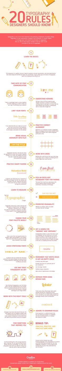 20 Typography Rules Designers Should Know