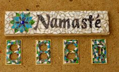Private Commission for Clients New Studio, Namaste Sign, Light Switch Cover, and Outlet covers.