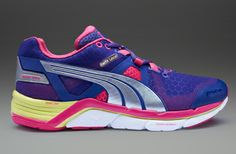 Puma Womens Faas 1000 - Womens Running Shoes - Beetroot Purple-Spectrum Blue-Sunny Lime