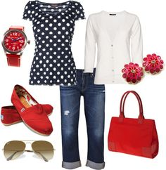 """Splash Of Red"" by mmarquis on Polyvore"
