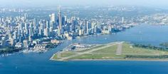 Billy Bishop Toronto City Airport (Canada): </strong>Jet booking service PrivateFly asked a global panel of experts and aviation fans to vote for the most scenic airport landings. Canada's Billy Bishop Toronto City Airport took place in the 2017 poll. Toronto City, Toronto Island, Toronto Canada, Toronto Airport, Toronto Skyline, World's Most Beautiful, Beautiful Places In The World, Beautiful Pictures, Countries To Visit