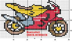 Motorcycle  hama perler beads pattern by Mauricette