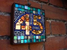 Making Mosaics | mosaic house numbers are a beautiful way to welcome your guests to ...