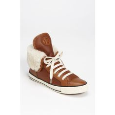 Tory Burch 'Benjamin' Sneaker Womens Sienna Size 8 M ($275) via Polyvore