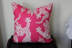 Tail Lights, Daiquiri Lilly Pulitzer for Lee Jofa Cushion Cover  Love this print!  for furlicious bean bags!!  look cute together!