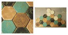 Heksagon by karolina-g  ręcznie robione kafle ceramiczne.   handmade ceramic tile. http://karolina-g.blogspot.com/2013/03/haksagonowa-mania.html