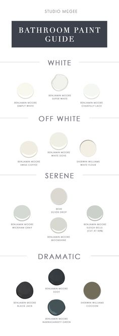 Sharing our go-to bathroom paint colors today!