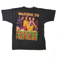 #vintage #90s #WaitingToExhale #WhitneyHouston #Movie #Film #tee #Shirt #hiphop #rap #RapTees #Rare #Bootleg #XL #Black