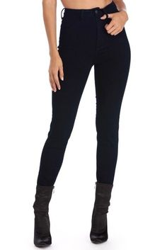 Denim Essential Dark Wash Skinny Jeans