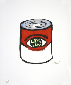 limited edition art print recycled paper soup can