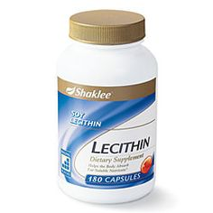 LECITHIN    Size: 180 Softgels    NATURE'S EMULSIFIER    The National Academy of Sciences has established that choline is important in the diet because it supports brain, liver, cardiovascular, and reproductive health. Choline is a component of the neurotransmitter acetylcholine, which is involved in the transmission of messages in the brain and nervous system.*, For more information, Visit Health.MyShaklee.com
