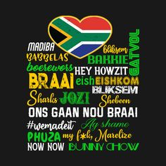Check out this awesome 'South+African+Things+Saffas+Say+Braai+T-Shirt' design on
