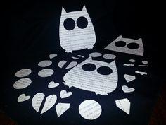 Set of 29 pieces Harry Potter Book Die Cut Owl Pieces