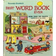 I used to read this to my little brother, and then enjoyed reading it to my own children. So much language around the residents of Busy Town!