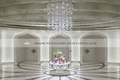 Crystal Wedding in Al Rufaa Celebration Hall Complex in Doha ... Sans Souci completely outfitted the vast wedding complex with crystal light fixtures. Made from hand blown and cut glass they adorn five ceremonial halls, six vestibules, a social room and all the corridors.