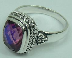 Sterling Silver Ring with DOUBLET RAINBOW LAVENDER CB CUT stone (AJRG05) Specifications:  Silver wt. in gm : 5.42 Stone wt. in gm : 0.612 Gross Wt. in gm: 6.032
